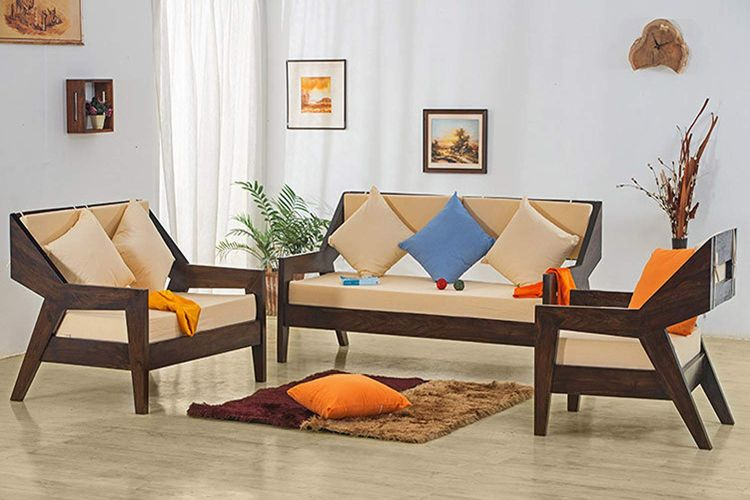 Simple Wooden Sofa Set Designs - The Best Ones - hoMonk